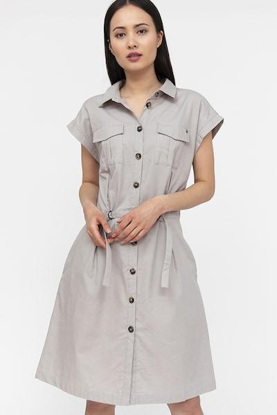 Finn Flare Hemdblusenkleid in grau, Modelansicht