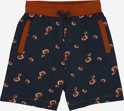Müsli by GREEN COTTON Shorts 'Rugby' in navy / braun / rostrot / weiß, Produktansicht