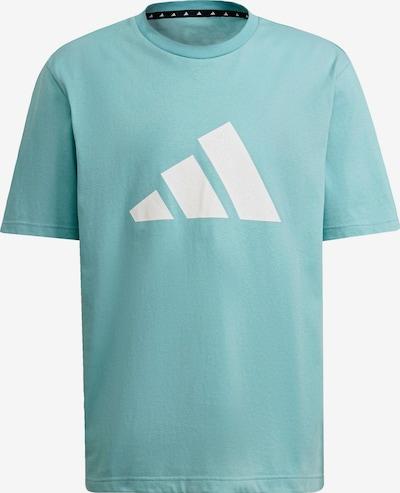ADIDAS PERFORMANCE T-Shirt fonctionnel en menthe / noir / blanc, Vue avec produit