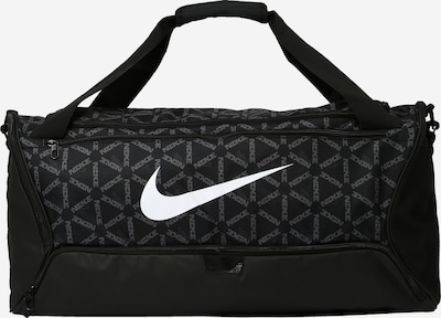 NIKE Sporttasche 'Brasilia' in grau / schwarz / weiß, Produktansicht