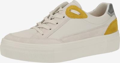 Legero Sneakers laag in de kleur Crème / Mosterd / Zilver / Wit, Productweergave