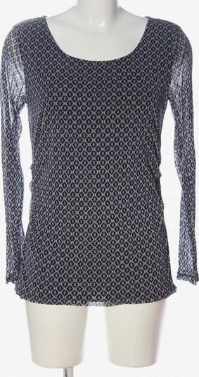 S.OLIVER PREMIUM Langarm-Bluse in L in blau / schwarz / weiß, Produktansicht
