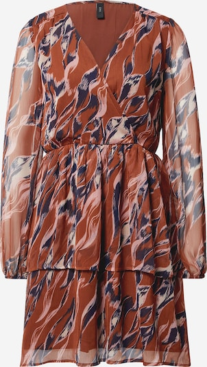 Y.A.S Kleid  'Astea' in beige / blau / braun, Produktansicht