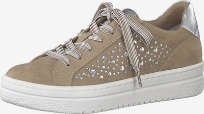 MARCO TOZZI Sneakers low in dark beige / silver, Item view