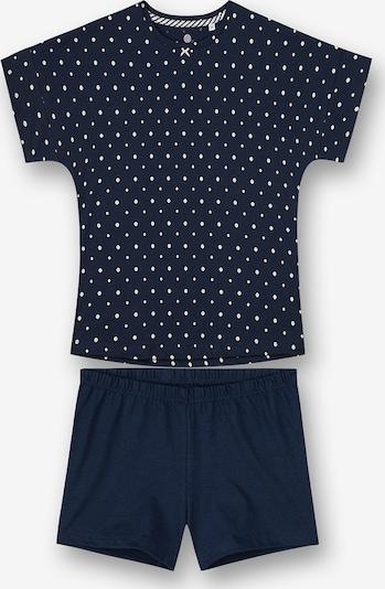 SANETTA Pyjama in nachtblau / weiß, Produktansicht