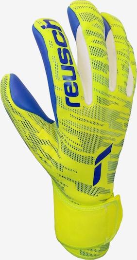 REUSCH Sporthandschuhe in royalblau / neongelb / weiß, Produktansicht