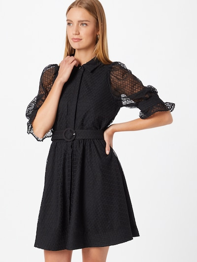 Bardot Kleid in schwarz, Modelansicht