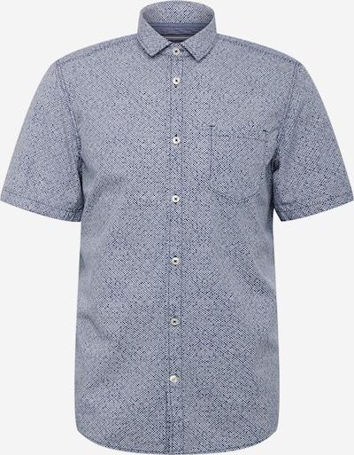 TOM TAILOR Skjorte i marin / dueblå / hvid, Produktvisning