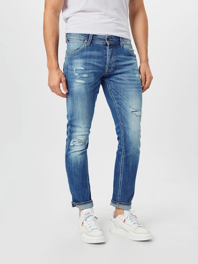 JACK & JONES Jeans 'Glenn' i blå denim, På modell
