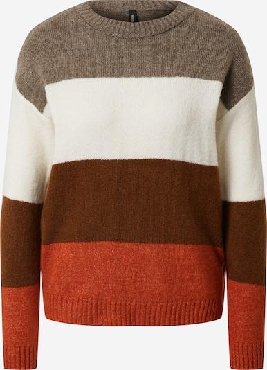 DeFacto Pullover in braun / dunkelbraun / orange / weiß, Produktansicht