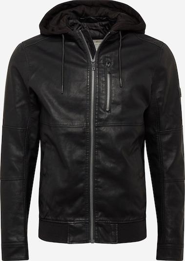 TOM TAILOR DENIM Bikerjacke in schwarz, Produktansicht