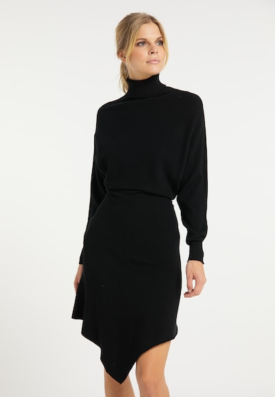 usha WHITE LABEL Strickkleid in schwarz, Modelansicht