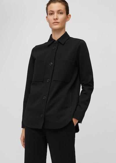 Marc O'Polo Jersey-Overshirt in schwarz, Modelansicht