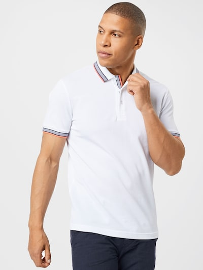 BOSS ATHLEISURE T-Shirt 'Paddy' en bleu foncé / saumon / blanc cassé: Vue de face