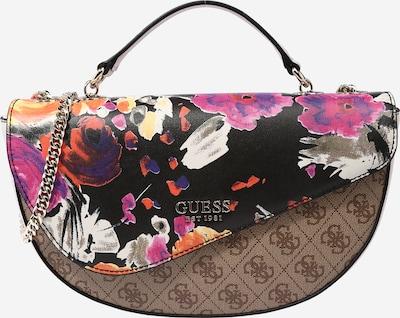 GUESS Чанта за през рамо 'Vision' в кестеняво кафяво / светлокафяво / оранжево / розово / черно, Преглед на продукта