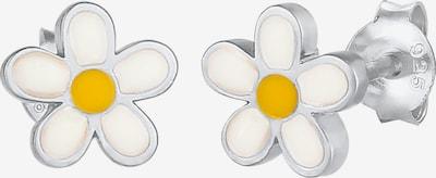 ELLI Oorbellen in de kleur Geel / Zilver / Wit, Productweergave