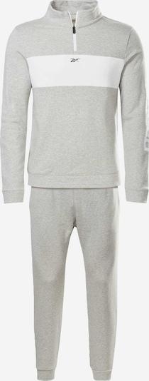 REEBOK Trainingsanzug in grau / weiß, Produktansicht
