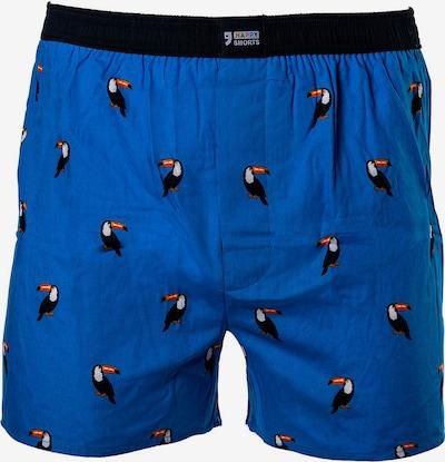 Happy Shorts Boxershorts in blau / schwarz, Produktansicht