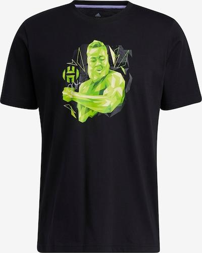 ADIDAS PERFORMANCE T-Shirt fonctionnel en vert fluo / noir, Vue avec produit
