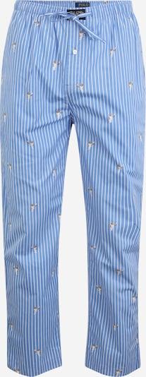 POLO RALPH LAUREN Pantalon de pyjama en bleu fumé / noisette / blanc, Vue avec produit
