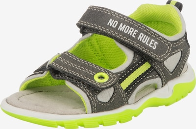 Sprox Sandale in grau / neongrün / weiß, Produktansicht