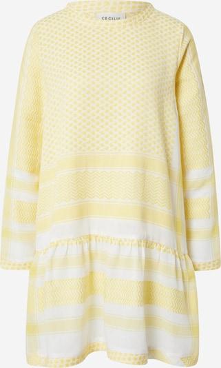 Cecilie Copenhagen Kleid in hellgelb / weiß, Produktansicht