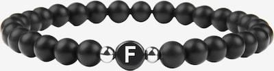 GOOD.designs Buchstabenarmband 'F' in schwarz, Produktansicht
