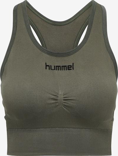 Hummel Sport bh in de kleur Donkergroen / Zwart, Productweergave