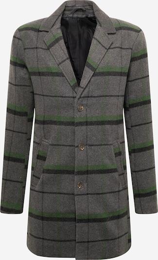 !Solid Mantel 'SDTave' in graumeliert / grün / schwarz, Produktansicht