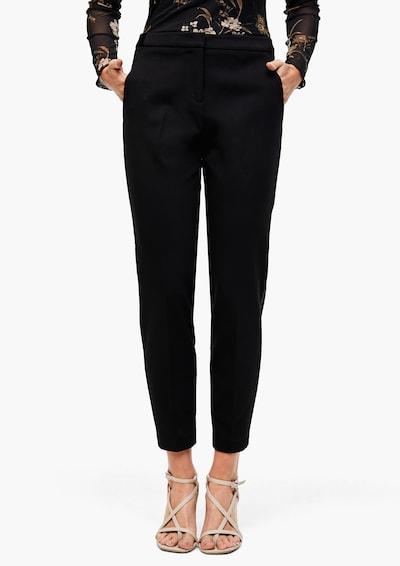 """""""Chino"""" stiliaus kelnės 'Rachel' iš s.Oliver BLACK LABEL , spalva - juoda, Modelio vaizdas"""