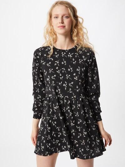 Miss Selfridge Kleid 'Smock' in schwarz / weiß, Modelansicht