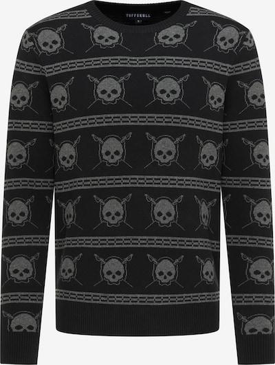 TUFFSKULL Pullover in taupe / schwarz, Produktansicht