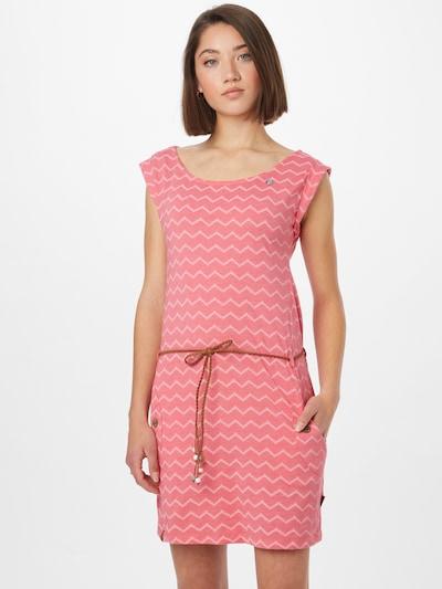 Ragwear Kleid 'CHEVRON' in rosa / weiß, Modelansicht