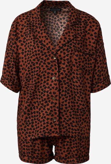 PJ Salvage Pyjama in braun / schwarz, Produktansicht
