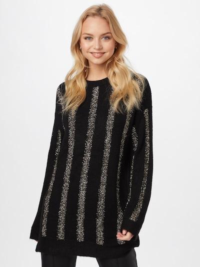 DeFacto Širok pulover | zlata / črna barva: Frontalni pogled