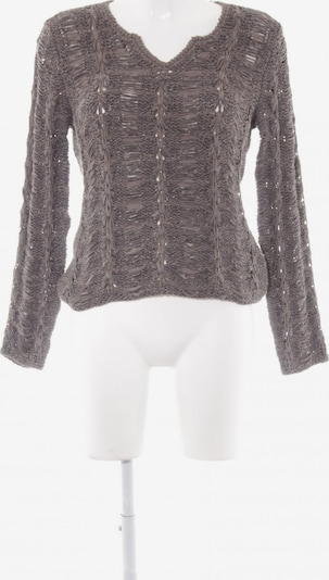 OUI Strickpullover in S in grau: Frontalansicht