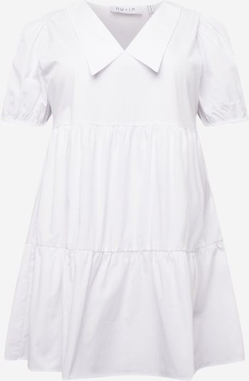 NU-IN Plus Robe-chemise en blanc, Vue avec produit