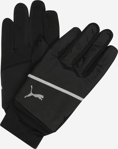 PUMA Αθλητικά γάντια σε μαύρο / ασημί, Άποψη προϊόντος
