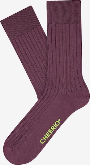 CHEERIO* Socken 'Tough Guy' in lila, Produktansicht
