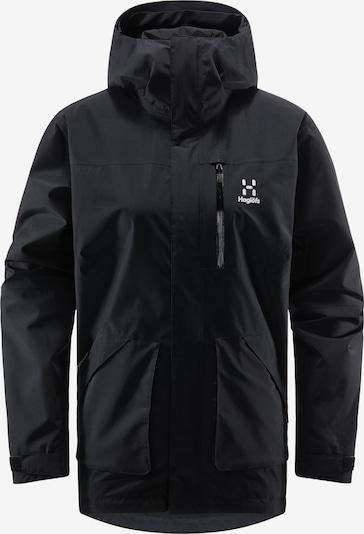 Haglöfs Outdoorjacke 'Vide GTX' in schwarz / weiß, Produktansicht