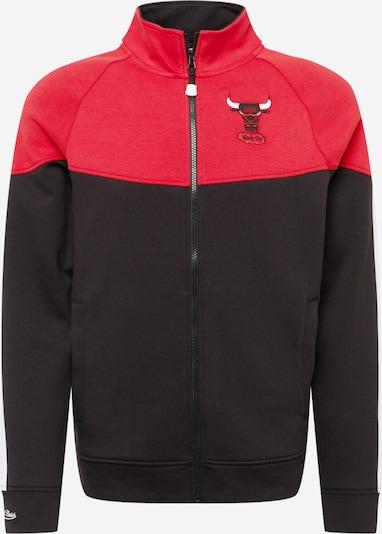 Mitchell & Ness Sweatjacke in rot / schwarz, Produktansicht