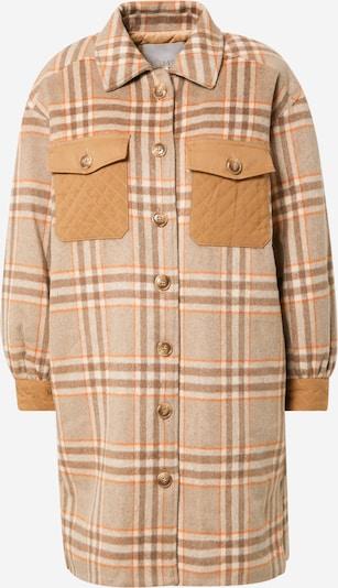 Palton de primăvară-toamnă 'CORIN' NÜMPH pe bej / maro / maro coniac / maro deschis, Vizualizare produs