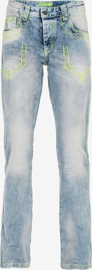 CIPO & BAXX Jeans 'Deon' in blau / neongelb, Produktansicht