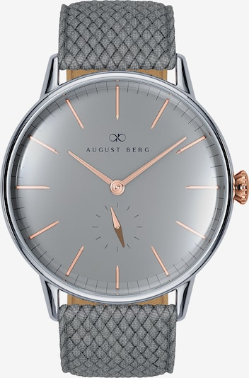 August Berg Uhr 'Serenity Nordic Granite l Grey Perlon 40mm' in anthrazit / silber, Produktansicht