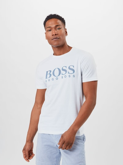 BOSS ATHLEISURE Shirt in blue / white: Frontal view