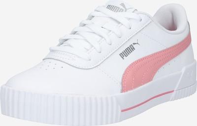 PUMA Sneaker 'Carina' in rosa / weiß: Frontalansicht