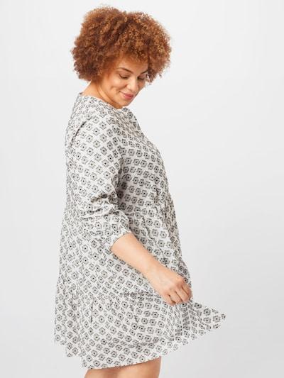 Rochie tip bluză 'Prensa' KAFFE CURVE pe gri / negru / alb, Vizualizare model