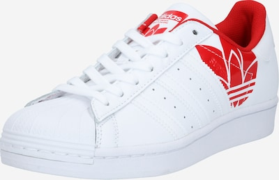 ADIDAS ORIGINALS Sneaker 'SUPERSTAR' in rot / weiß, Produktansicht