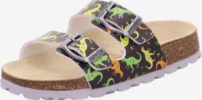 SUPERFIT Open schoenen in de kleur Lichtgeel / Donkergrijs / Lichtgroen / Sinaasappel, Productweergave