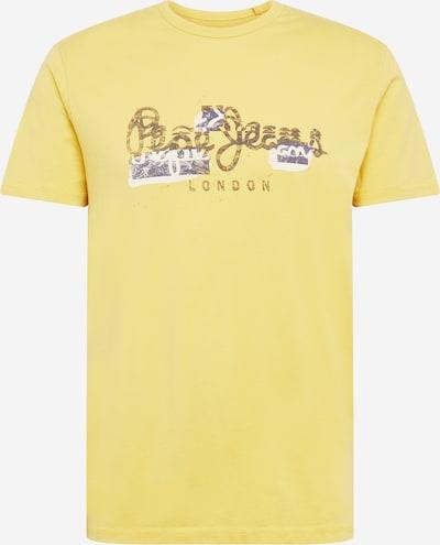 Pepe Jeans Shirt 'SALOMON' in dunkelblau / hellgelb / weiß: Frontalansicht